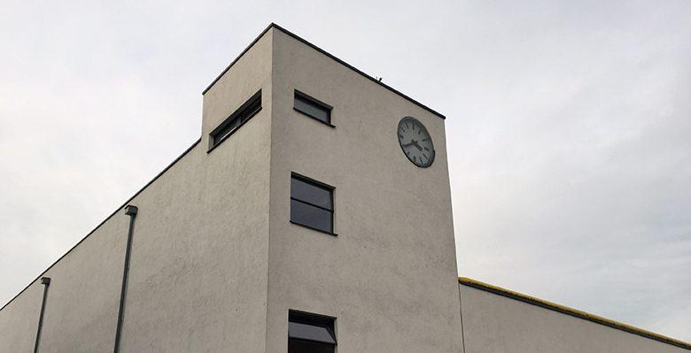 Mies van der Rohe Verseidag Krefeld Business Park Turmuhr